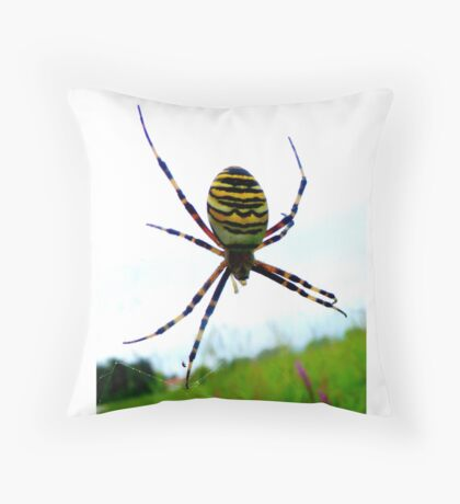 Wasp Spider Throw Pillow