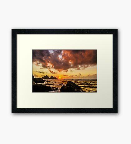 Sun , sea and sunset Framed Print