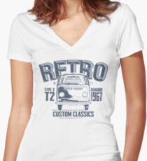 NEW Men's Classic Camper Van T-shirt Women's Fitted V-Neck T-Shirt