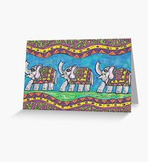 Groovy Elephant Parade Greeting Card