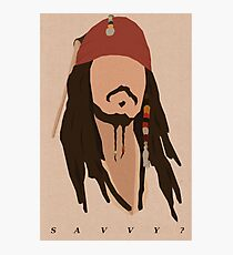 Savvy? Photographic Print