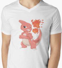 Pokemon-Charmeleon Men's V-Neck T-Shirt