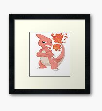 Pokemon-Charmeleon Framed Print