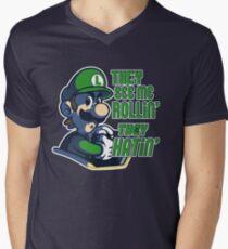 Luigi MK8 - Ridin' Dirty Men's V-Neck T-Shirt