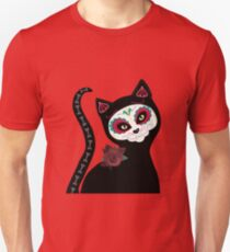 Day of the Dead Cat Unisex T-Shirt