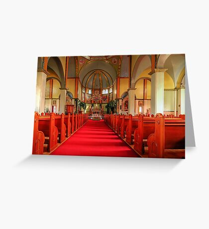 Cathedral of the Prairies - Internal View Greeting Card