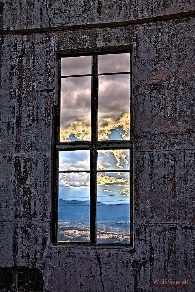 Through the Windows of the Burnt Out Canberra Observatory by Wolf Sverak