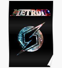 Metroid Minimalist Nebula Design Poster
