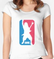 DIME: Dimebag Darrell Sport Logo Women's Fitted Scoop T-Shirt