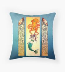 Seafaring with Cephalopod Throw Pillow