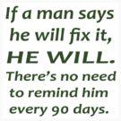 Man will fix it by Tony  Bazidlo