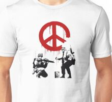 Soldiers Painting Peace For Bansky Graffiti Unisex T-Shirt