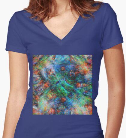 Mermaid #DeepDream Fitted V-Neck T-Shirt