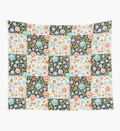 Millefiori Floral Patchwork Wall Tapestry