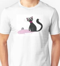 Black kitten. Vector Illustration T-Shirt