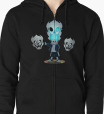 Undertale - Sans and Gasterblaster Zipped Hoodie