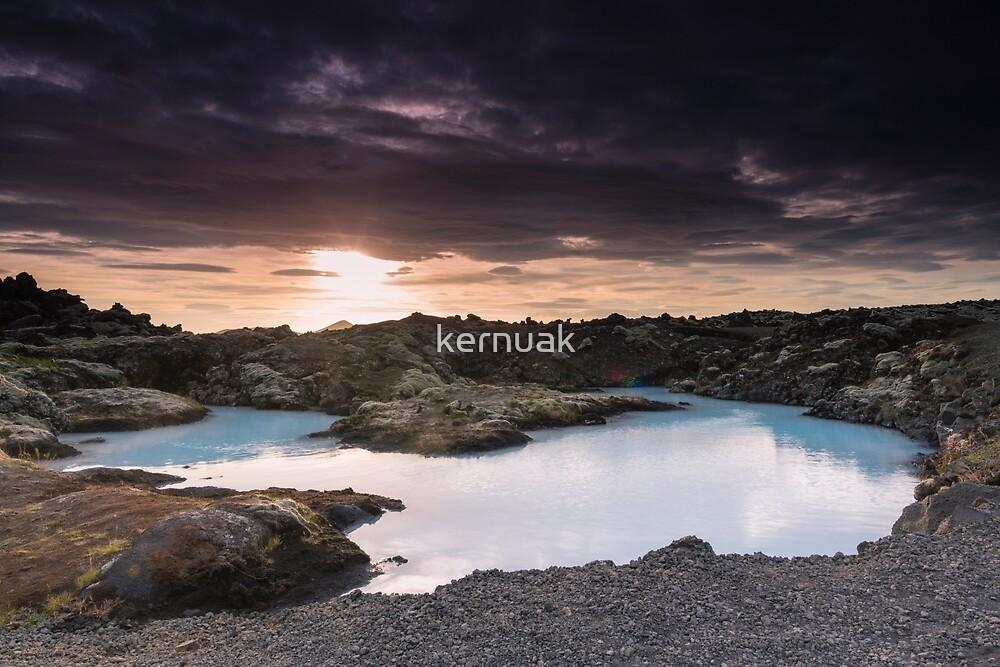 Sunset Near the Blue Lagoon by kernuak