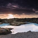 Sunset Near the Blue Lagoon by kernuak