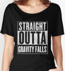 straight outta gravity falls Women's Relaxed Fit T-Shirt