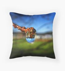 A Raindrop in a Suburb, a Suburb in a Raindrop Throw Pillow