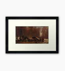 Eastman Johnson - A Different Sugaring Off Framed Print