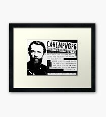 Carl Menger Austrian School Libertarian Free Markets Framed Print