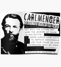 Carl Menger Austrian School Libertarian Free Markets Poster