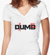 Drummer Dumb Funny Cool Shirt For Drummers Women's Fitted V-Neck T-Shirt