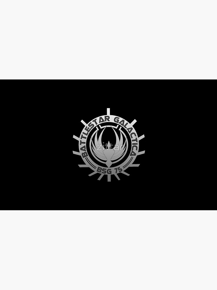 Battlestar Galactica - Chrome Logo by zittar