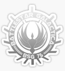 Battlestar Galactica - Chrome Logo Sticker