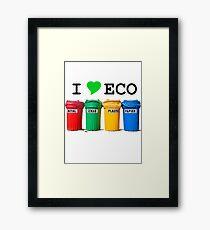 I LOVE ECO. Framed Print
