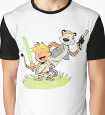 Calvin and Hobbes Star Wars Graphic T-Shirt