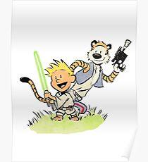 Calvin and Hobbes Star Wars Poster
