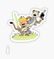 Calvin and Hobbes Star Wars Sticker
