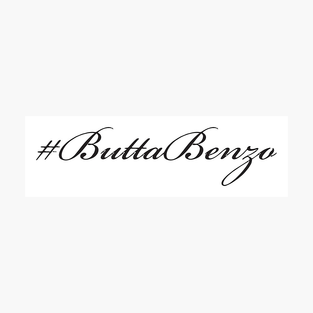 #ButtaBenzo Photographic Print