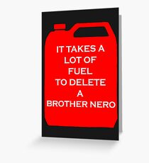 Delete A Brother Nero Greeting Card