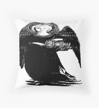 Druming Angel Throw Pillow