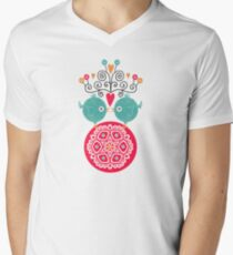 curly whirly lovebirds with heart flowers T-Shirt