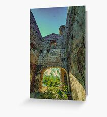 Santo Tomas engine house, Pozo Ancho lead mine, Linares, Andalusia, Spain Greeting Card