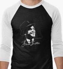 Frank Sinatra - Portrait and signature Men's Baseball ¾ T-Shirt