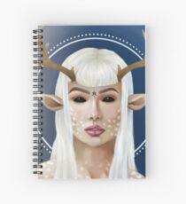 Demon Deer Girl Spiral Notebook