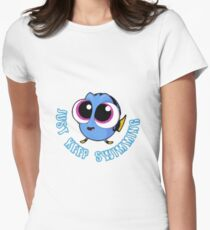 Einfach weiter schwimmen # 2 Tailliertes T-Shirt für Frauen