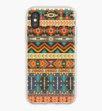 Colorful  tribal pattern with geometric elements iPhone Case