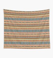 Colorful  tribal pattern with geometric elements Wall Tapestry