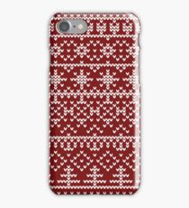 Christmas red pattern iPhone Case/Skin