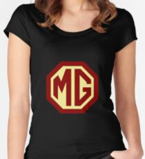 Classic Cars Logo - MG Fitted Scoop T-Shirt