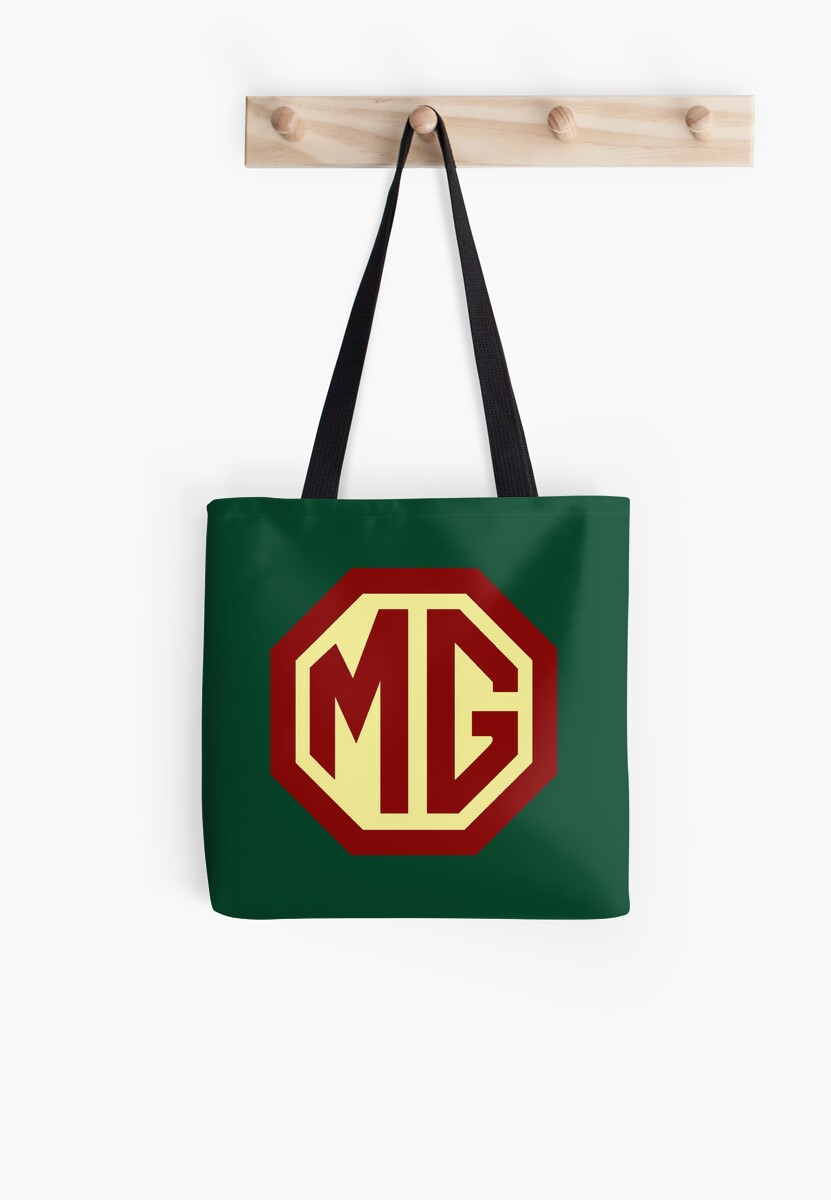 Classic Cars Logo Mg Tote Bags By Brookestead Redbubble