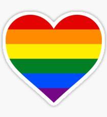 GAY PRIDE FLAG - HEART SHAPE Sticker
