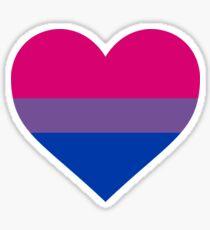 BISEXUAL PRIDE FLAG - HEART SHAPE Sticker