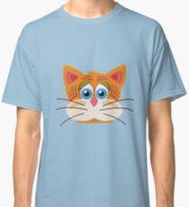 Cat Face Cartoon Vector Graphic Classic T-Shirt